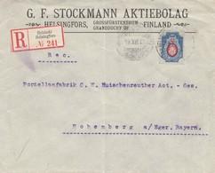 Finnland: 1913: Einschreiben Helsinki Nach Hohenberg/Deutschland - Finlande