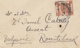 Palestine 1922: Small Cover To Roustehaut (?) - Bulgaria - Palestine