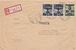 GG Russland:  Einschreiben Warschau Nach Lemberg, Portogerecht, Zensur - Occupation 1938-45