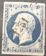 Empire No 14 A A Bleu Foncé  Obl Pc 1251 De FENETRANGE , Meurthe Et Moselle  Indice 10, Belle Frappe ,  TB - 1853-1860 Napoleon III