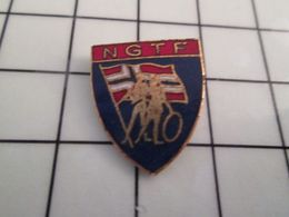 115e Pin's Pins / Rare & Belle Qualité !!! THEME : SPORTS / GYMNASTIQUE NGTF FEDERATION NORVEGE DRAPEAU - Ginnastica