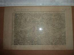 Carte Topographique D'état Major De St Lô Type 1889 - Cartes Topographiques