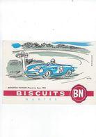 Buvard  Biscuits BN  44 Nantes  Automobile De Course - Zwieback