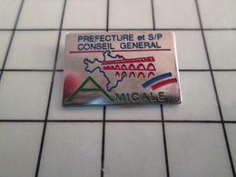 115e Pin's Pins / Rare & Belle Qualité !!! THEME : ASSOCIATIONS / GARD AMICALE PREFECTURE SAPEURS POMPIERS ET CONSEIL GE - Associations
