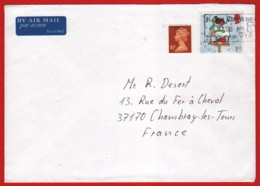 GB 1999, Cover From England To France 17.12.2001, Christmas - 1952-.... (Elizabeth II)
