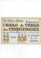 Buvard   L'huile De Table Des Chartreux - Food