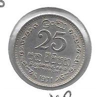 *ceylon 25 Cents 1971  Km 131 - Sri Lanka