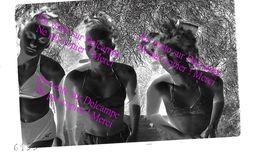 Groupe De Jolies Filles ! Négatif Photo N&B Vintage / Pin Up Maillot De Bain Lingerie Femme - Pin-up