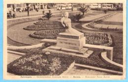 Antwerpen-Anvers-+/-1940-Gedenkteeken Koningin Astrid-Monument Reine Astrid-Tram-Tramway-Strassenbahn - Antwerpen