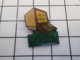 115e Pin's Pins / Rare & Belle Qualité !!! THEME : INFORMATIQUE / MINITEL CREDIT AGRICOLE TOULOUSE VIDEOLIENS - Informatique