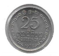 * Sri Lanka  25 Cents 1978  Km 141.1 - Sri Lanka
