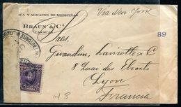 VENEZUELA - N° 50 / LETTRE DE CARACAS DE 1918 POUR LYON AVEC CENSURE MILITAIRE - TB - Venezuela