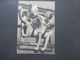 Propaganga Karte Um 1943 Junge Mädchen Winken Aus Dem Zug. Parole: Erntehilfe! Stempel Stübersheim - Storia Postale