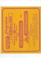Buvard  01 Poncin   Tout S'imprime  L'electro Serigraphe Ou Tiflex  L'helio Serigraphe - Vloeipapier