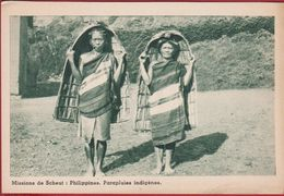 Parapluie Indigene Shelter For Rain Philippines Philippinen Filipinas Philippijnen Missionary Mission Missie Scheut CPA - Philippines