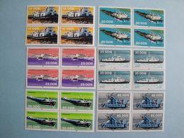 1981 Bateaux RDA  Yv 2306/11 X 4  ** MNH Michel 2651/6 Scott 2221/6 SG E2361/6 Ships - [6] République Démocratique