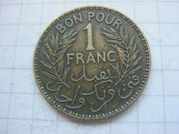 Tunisia , 1 Franc 1921 - Tunisia