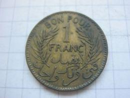 Tunisia , 1 Franc 1945 - Tunisia