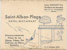ST ALBAN PLAGE . HOTEL RESTAURANT . LAC D'AIGUEBELETTE - Pubblicitari