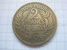 Tunisia , 2 Francs 1921 - Tunisia