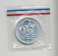 ESSAI 5000 FRANCS : ETATS DE L'AFRIQUE DE L'OUEST  BANQUE CENTRALE  ARGENT 1982  FDC - Münzen