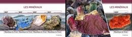 Tchad 2020, Minerals, 4val In BF +BF - Mineralien