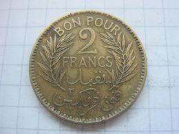 Tunisia , 2 Francs 1945 - Tunisia