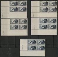 """N° 764 Cote 35 € ** (MNH). 5 Coins Datés Du 23/9/46, 2/10/46, 12/12/46, 29/8/47 Et 31/10/47 """"Pointe Du Raz"""" TB - Coins Datés"""