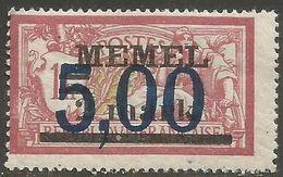 Memel (Klaipeda) - 1923 Merson  Overprint 5pf/2/1m MLH *   Mi 51  Sc 49 - Gebraucht