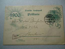 GERMANY POSTCARDS  1900 POSTMARK WESEL - [7] Federal Republic