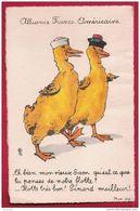 Alliance Franco-Américaine -  U.S.A.  Illustration  Humoristique,  Aquarelle Signée. - Militaria