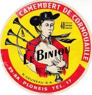 ETIQUETTE DE FROMAGE  CAMEMBERT  LE BINIOU  -  40%  - Fab Dans Le FINISTERE 29-AA - Fromage
