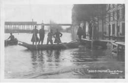 INONDATIONS De PARIS 16 ème ( Série Paris Inondé ) Quai De Passy ( Métro ) - CPA Photo - Seine - Alluvioni Del 1910