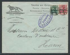 Brief Verstuurd Uit Philippeville Naar Haren - Army: Belgium