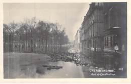 INONDATIONS De PARIS 7 ème ( Série Paris Inondé ) Rue De Constantine - CPA Photo - Seine - De Overstroming Van 1910