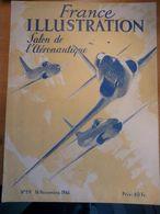 Illustration Salon Aéronautique 1946 Sartrouville Hydravion Lignes Grand Palais Militaire Truman Attentat Rome Lolos - Zeitungen