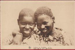 Native African Congolese Children Enfants Indigenes Belgisch Congo Belge  CPA Kwango Mission Missie Jesuites CPA - Congo Belge - Autres