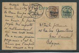 PWST Verstuurd Van Limal Naar Mons - Weltkrieg 1914-18