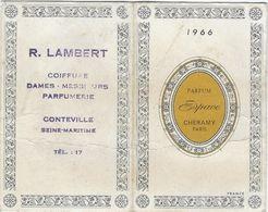 Calendrier  Petit Format 1966  R Lambert  Coiffure  76 Conteville - Calendriers