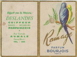 Calendrier  Petit Format 1961    76 Aumale  Deslandes Coiffeur  Parfum Bourjois - Calendriers