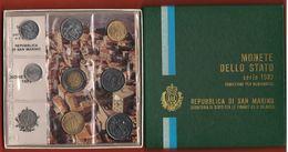 San Marino Serie 1982 Conquiste Sociali  Divisionale Coin Set 9 Val. - Saint-Marin