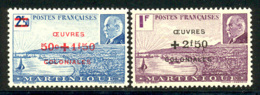 Martinique 1944 Yvert 196 / 197 ** TB - Martinica (1886-1947)