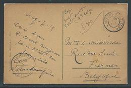 Kaart Verstuurd Naar Veurne 7.19 - Weltkrieg 1914-18