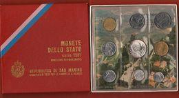 San Marino Serie 1981 PACE Divisionale Coin Set 9 Val. - Saint-Marin