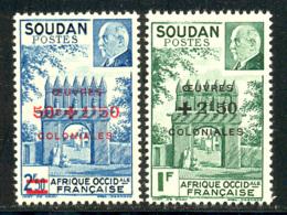 Soudan 1944 Yvert 133 / 134 ** TB Bord De Feuille - Sudan (1894-1902)