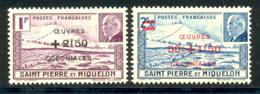 St Pierre Et Miquelon 1944 Yvert 312 / 313 ** TB - St.Pierre & Miquelon