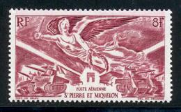 St Pierre Et Miquelon PA 1946 Yvert 11 ** TB Victoire Bord De Feuille - Ongebruikt