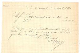 LETTRE MANUSCRIT BORDEAUX 4 AVRIL 1890 - SIGNATURE HENRY FRUGES - HOTEL FRUGES - SUCRE De CANNE - JARNAC - Manuscritos