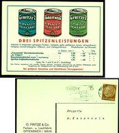 """Deutschland Offenbach Main 1938 """" O.Fritze&Co Farben Und Lacke """" Ansichtskarte Mit Reklame Pubicite Advertisement - Publicidad"""