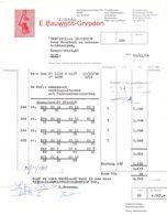 Factuur Facture - Groothandel Voor Haarkappers Firma E. Bauwens - Grypdon - Gent 1968 - Belgien